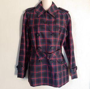 Coach plaid Raincoat/ trench coat size Medium